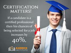 Certification Matters! Certified candidates have a higher chance to make it through the interview. Dial: 9836423755 #career #Education