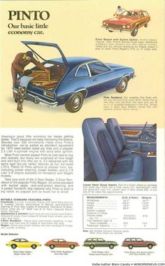 1975 Ford Pinto vintage ad