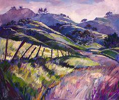 Purple Haze Paso Robles California Landscape Original Oil Painting 72x60. $6,500.00, via Etsy.