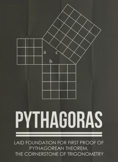 Minimalist Posters of Mathematicians - Pythagoras of Samos (c. 570 BC – c. 495 BC) was an Ionian Greek philosopher, mathematician, and founder of the religious movement called Pythagoreanism.