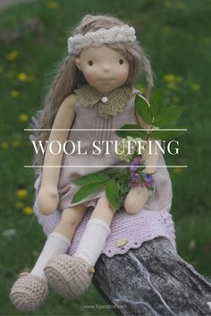 Using wool to stuff your natural dolls and toys, methods and sources via fig and me.