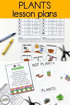 Science in preschool is fun! Teach children all about plants in this fun spring time thematic unit. Lesson plans and printable activities included. Perfect for preschool and pre-k! Preschool Writing, Preschool Lesson Plans, Writing Resources, Writing Activities, Teaching Kids, Kids Learning, Plant Lessons, Thematic Units, Spring Theme
