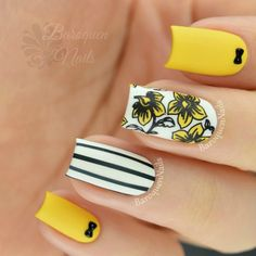 Nailpolis Museum of Nail Art | Hello Yellow by BaroquenNails