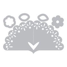 Fustella Sizzix Thinlits Die Set 5PK - Segnaposto, Ventaglio - Sizzix Fustelle Framelits e Thinlits - Big Shot Macchina e Accessori - BIG SHOT & CO.