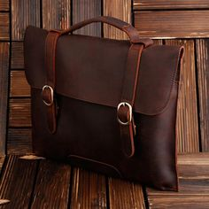 ROCKCOW Real Leather Messenger Bag Cross Body Satchel Brown Bag Briefcase 1132 - ROCKCOWLEATHERSTUDIO