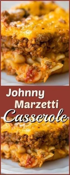 Johnny Marzetti Casserole, the classic Midwest dish that is the perfect comfort food! Recipe from beef recipes for dinner main dishes Johnny Marzetti Casserole - (Ground Beef Casserole Recipe) Beef Casserole Recipes, Ground Beef Casserole, Casserole Dishes, Meat Recipes, Mexican Food Recipes, Cooking Recipes, Potato Recipes, Chicken Recipes, Recipies