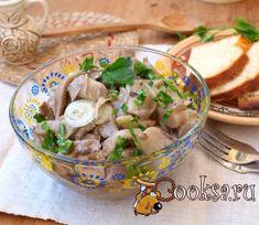 Маринованные вешенки Marinated Mushrooms, Stuffed Mushrooms, Russian Recipes, Pickles, Potato Salad, Potatoes, Meat, Chicken, Ethnic Recipes