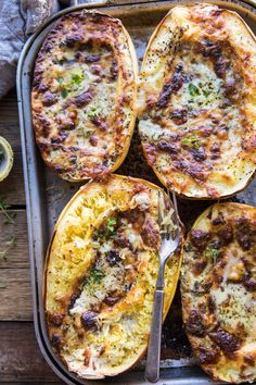 Stuffed Spaghetti Squash 4 Cheese Pesto Lasagna | halfbakedharvest.com #spaghettisquash #italian #easyrecipes #healthy #autumn #fallrecipes