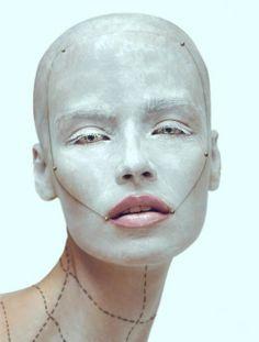 white face avant garde