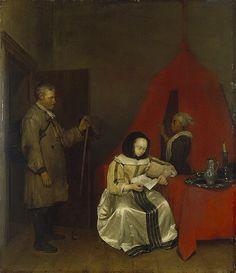 Gerard ter Borch, Rural Postman (ca. 1655, The Hermitage, Saint Petersburg)
