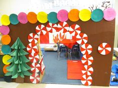 Gingerbread House for the Dramatic play area . Pre K
