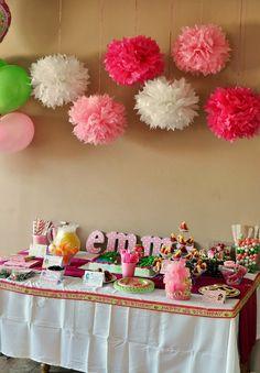 Strawberry Shortcake Birthday Party Dessert Table