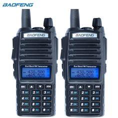 2 adet baofeng uv-82 walkie talkie cb telsiz uv82 taşınabilir iki yönlü radyo fm radyo verici uzun aralığı dual band baofeng UV82