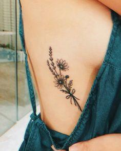 Side Tattoos 48080 Beautiful Side Boob Tattoo Art Design For Women Side Boob Tattoo, Piercing Tattoo, Tongue Piercings, Cartilage Piercings, Rook Piercing, Piercing Ideas, Tattoo Fairy, Flower Bouquet Tattoo, 16 Tattoo