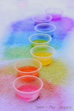 Rainbow eruptions - simple science for kids