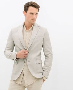 ZARA - COLLECTION SS15 - BLAZER WITH CONTRASTING ELBOW PATCHES