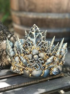 Merman Crown Shell Crown Seashell Crown Merman Headpiece
