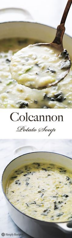 Hearty Colcannon Potato Soup! Like Irish colcannon, but in soup form. With russet potatoes, cabbage, kale, stock, and cream. This soup will keep you warm on a cold winter day. And it's so easy to make! #glutenfree On SimplyRecipes.com