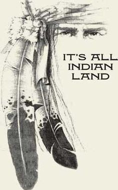 This land, this soil is all the indigenous peoples of America's land. The Natives are the rightful owners.