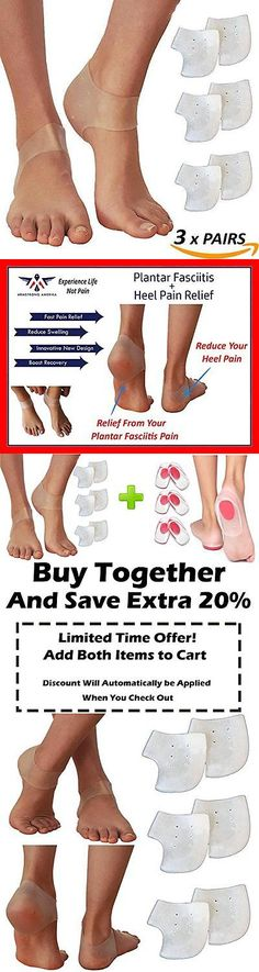 Other Orthopedic Products: Heel Spur Pads For Plantar Fasciitis - Gel Socks Silicone Cups Shoe Insert New -> BUY IT NOW ONLY: $39.67 on eBay!