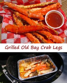 I don't make crab legs often, but when I do, I don't mess around. These grilled Old Bay crab legs were definitely some of the best I've ever had. The flavor was just incredible. I hint of smoke from the grill, that great Old Bay flavoring, a little citrus from the lemon, and of course, butter. The liquid used to baste the legs as they cook is used as an incredible dipping sauce that is so packed with flavor you could just drink it right out of the bowl.