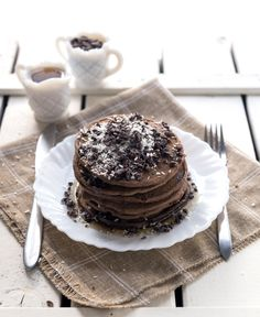 ... -Free Dark Chocolate Pancakes with Shredded Coconut and Cacao Nibs