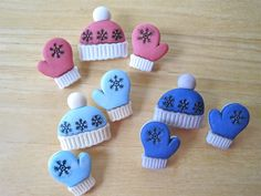 Mittens and Hats Novelty Craft Buttons by FireflyCabin on Etsy, $2.25
