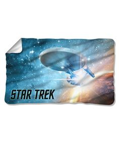Take a look at this Star Trek Final Frontier Fleece Throw on zulily today!