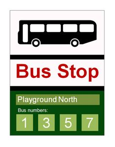 Bus Stop Sign...Bus stop sign ideal to use in role-play scenarios in schools and early years settings. The text is editable