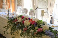 The Top Table design was seriously luscious with fabulously opulent design featuring oodles of peonies and Hydrangeas, Delphiniums and Sweet peas