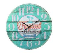 Aloha! Diese große Wanduhr im Vintage-Look hilft Ihnen dabei, von Meer und Strand zu träumen. Das Bootsplanken-Design lässt die Uhr im Used-Look erscheinen und verleiht ihr einen gewissen Südsee-Charme. Außer  gewöhnliches...