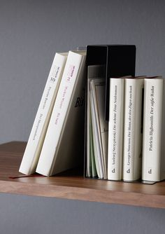 LETTER RACK Freestanding divider for sorting letters and cards and/or for use as a bookend Patricia Highsmith, Letter Rack, Shelf System, Modular Shelving, Clothes Rail, Dressing Area, Wood Design, Storage Boxes, Storage Solutions