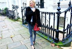Day 18: Wear a glamorous evening coat during the day. via @WhoWhatWear