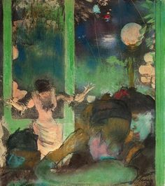 At the Cafe des Ambassadeurs 2 1885  Edgar degas