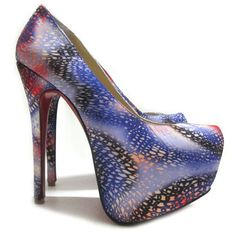 Classic Christian Louboutin Daffodile 160mm Cloth Platform Pumps Multicolor