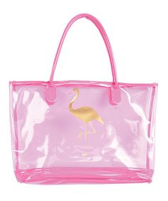 Pink Flamingo Beach Bag Zulilyfinds Gifts