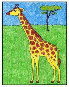 Giraffes Easy Giraffe Drawing, Baby Animal Drawings, Giraffe Painting, Giraffe Art, Giraffes, Kid Painting, Easy Art For Kids, Easy Drawings For Kids, Drawing For Kids
