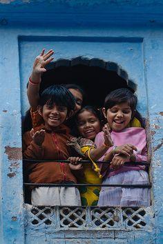 Smiling & Laughing Children, India.