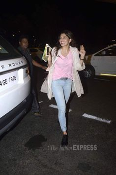 Jacqueline Fernandez at the Mumbai airport enroute to #IIFA Awards in Malaysia. #Bollywood #Fashion #Style #Beauty
