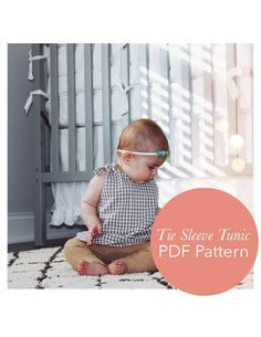 One Yard Baby Tunic - Baby clothes patterns are easy and quick sewing projects that never take up too much fabric. Skip buying baby duds at the store and make the One Yard Baby Tunic. This adorable, little top to sew is easy-to-make, a great baby shower gift, and too cute to pass up. Using just one yard of fabric, this free printable sewing pattern is downloaded in sizes 0 to 3 months, making it perfect for babies of all shapes and sizes.