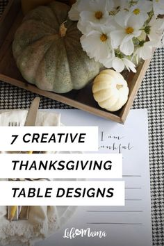 Thanksgiving is probably the one time people are ok with lounging around the kitchen or dining room table. If youre on the search for some beautiful table designs then look no further because we have some that youre sure to love! Thanksgiving Centerpieces, Thanksgiving Table, Thanksgiving Recipes, Seasonal Decor, Fall Decor, Holiday Decor, Wooden Box Centerpiece, Table Designs, Flower Boxes