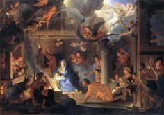 L'adoration des bergers / Adoration of the Shepherds / La adoración de los pastores // 1689  //Charles LE BRUN #Christmas #Navidad #Noël