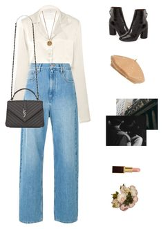A fashion look from November 2017 featuring white long sleeve shirt, blue jeans and black ankle bootie. Browse and shop related looks. Teen Fashion Outfits, Look Fashion, Korean Fashion, Fall Outfits, Vegas Outfits, Woman Outfits, Party Outfits, Mode Grunge Hipster, Cute Casual Outfits