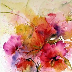 Echevelées - Painting, 20x20 cm ©2011 by Véronique Piaser-Moyen - Painting