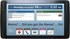 Tablet PCs  Introducing Memo Touch, a tablet designed for elders with short-term memory loss