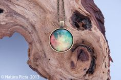 Green red space galaxy nebula antique bronze color by naturapicta, $12.95