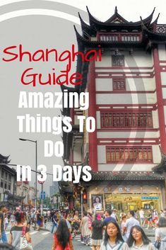 China Travel Guide: Shanghai Bucket list of things to do in 3 days: Street Food, Nanjing Road Pedestrian street, The Bund, Yuyuan Garden, Shanghai Zhujiajiao Ancient Town, Shanghai Confucius Temple and riding the metro! https://togethertowherever.com/shanghai-three-day-experience/