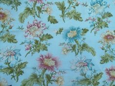 Flora and Fauna Blue Sky Cotton Fabric from Benartex 1 yd,fat quarters are available