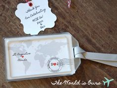 Wedding Favors - The World is Ours Luggage Tag
