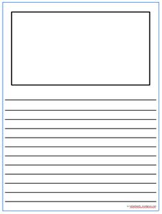 printable draw and write paper